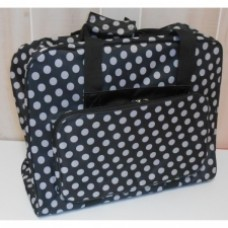 Hemline Dotty Sewing Machine Bag in Black Polka Dot